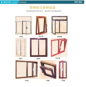 China Aluminium Wooden Grain Window Factory Price pictures & photos