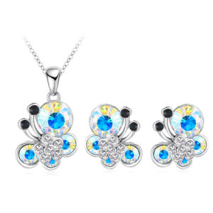Cheap Crystal Butterfly Jewelry Sets 7colors (PCST0003-B)