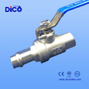 Cartridge Connection Full Bore CF8 2PC Ball Valve pictures & photos