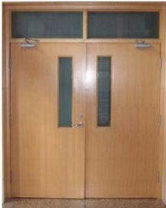 Wooden hospital Door with Viewport