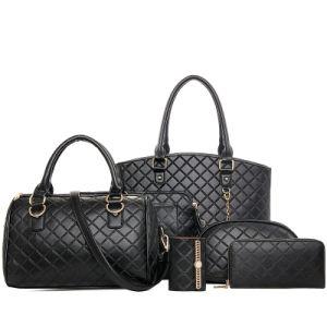 Classic Leather Handbag Set 6PCS Ladies Fashionable Designer Bag (XM0123) pictures & photos