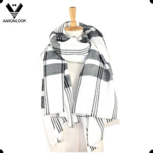 Fashion Checked Stripe Blanket Shawl and Scarf pictures & photos