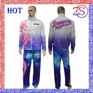 Fashion 100% Polyester Tracksuits Sportswear with High Quality pictures & photos