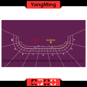 Baccarat Table Layout 10-P Purple (YM-BL01P1) pictures & photos