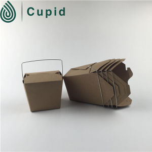 Disposable 16oz Paper Meal Box with Handle pictures & photos