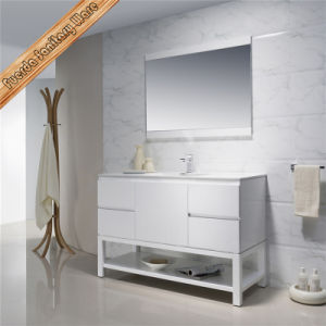 "Fed-1203 Matt White Free Standing 32"" Single Sink Solid Wood Bathroom Cabinets pictures & photos"