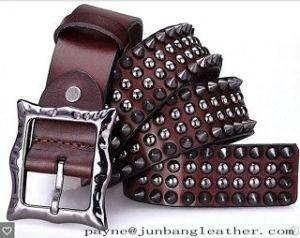 Hip-Hop Stylish Rivets Metal Leather Belt for Cool Boy Fashion Woman