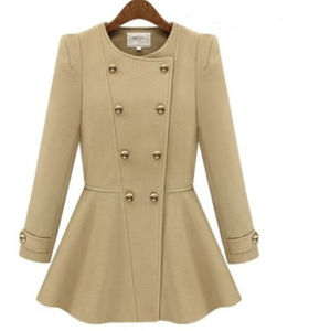 Hot Fashion Womens Autumn and Winter Long Sleeve Jacket pictures & photos