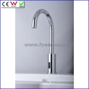 Goose Neck Automatic Sensor Faucet Cold Only (QH0108) pictures & photos