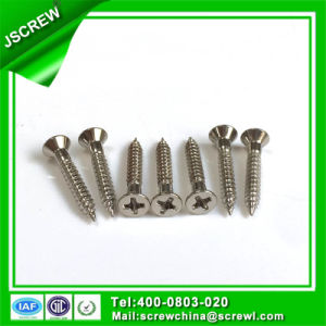 Passivation OEM M3.5 Flat Head Self Tapping Stainless Steel Screw pictures & photos