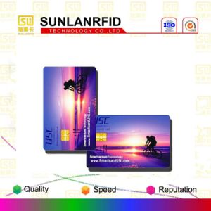 Customized ISO7816 Sle4442 FM4442 FM4428 Atmel RFID PVC Smart Contact IC Card pictures & photos