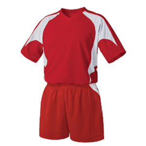 Custom 100% Polyester Man′s Short Sleeve Soccer Jersey pictures & photos