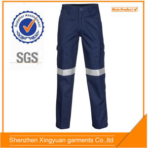 Drill Cotton Navy 6 Pockets Cargo Work Pants