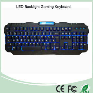 Spanish Version Red/Purple/Blue Backlight LED PRO Gaming Keyboard (KB-1901EL) pictures & photos