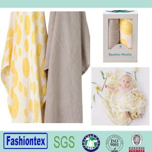 Swaddle Blanket 100% Organic Cotton Muslin pictures & photos
