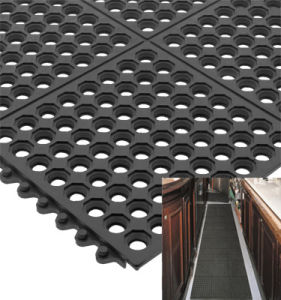 Drainage Rubber Mat Anti Slip Rubber Mat Colorful Rubber Roll Anti-Slip Kitchen Mats pictures & photos