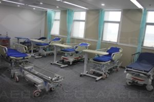 AG-HS002 with Two ABS Handrails Metal Manual Patient Ambulance Stretcher pictures & photos