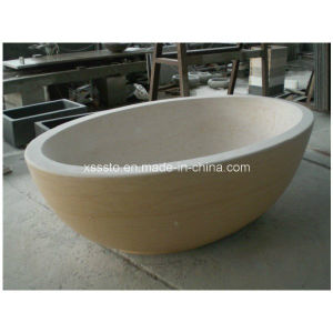 Stone Travertine Freestanding Tub Cheap Bathtub for Bathroom Decor pictures & photos