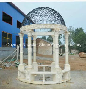 Outdoor Furniture Hand Carved Stone Gazebo Tent for Garden Decoration pictures & photos