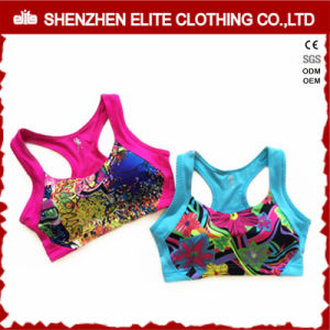Women OEM Printed Polyester Spandex Sports Bra pictures & photos