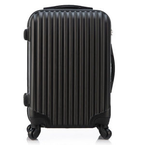 ABS PC Elegant Black Hard Shell Travel Trolley Luggage pictures & photos