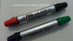 Two Color Head Whiteboard Marker Pen pictures & photos