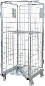 Metal Logistic Wire Mesh Warehouse Roll Cage Trolley Roll Container pictures & photos