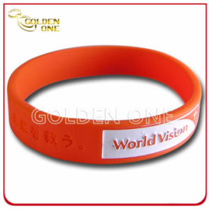 Special Design Custom Embossed Logo Silicone Rubber Wristband pictures & photos