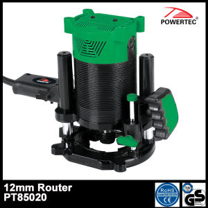 Powertec 1500W 12mm Electric Hand Wood Router (PT85020) pictures & photos