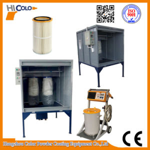 Manual Powder Spray Booth for Car/Bike Parts pictures & photos