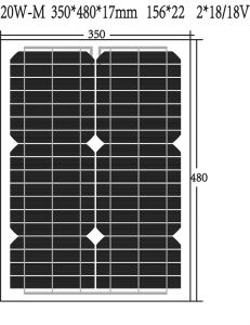 Hot Sale Cheap Price High Efficiency Solar Panel (20W-P) pictures & photos