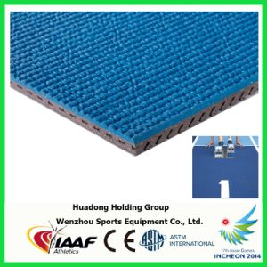 Professional Athletic Track Manufacturer, Prefabricated Rubber Athletic Track Flooring pictures & photos