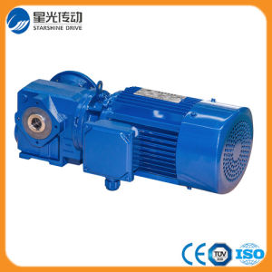 Iron Cast Blue Color Helical AC Worm Gear Motor pictures & photos