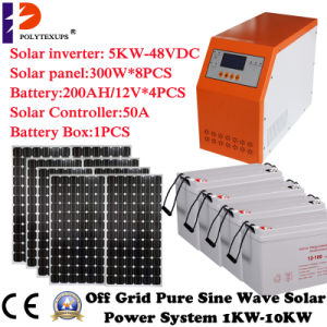 Low Frequency 5kw/5000W Solar Hybrid System for Home Use pictures & photos
