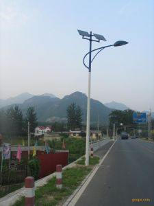 70W Solar Street Lights with 8m High Pole Energy