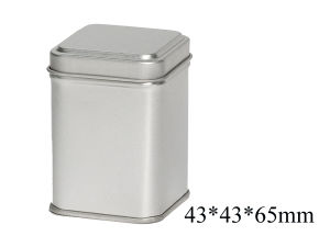 Silver Printing Metal Tin Can of Tea