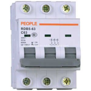 Miniature Circuit Breaker with High Breaking Capacity Rdb5-63 pictures & photos