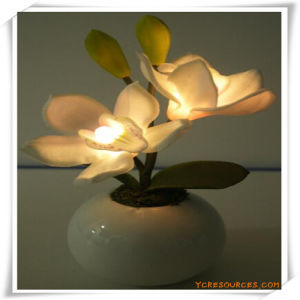 Orchid LED Artificial Flowers with Ceramics Pot for Promotion pictures & photos