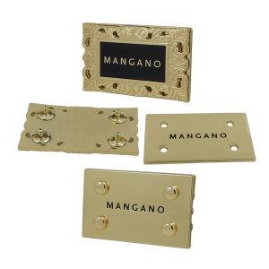 Custom Gold Handbag Metal Label pictures & photos