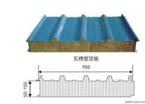 Rock Wool Color Steel Sandwich Panel pictures & photos