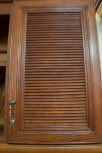 American Style Walnut Color Kitchen Cabinet pictures & photos