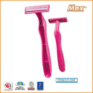 Plastic Platinum Coated Twin Stainless Steel Blade Disposable Razor (LY-2503) pictures & photos