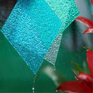 UV Coated Blue Green Embossed Polycarbonate Panels pictures & photos