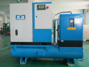 Stationary Rotary Air Screw Air Compressor with Air Dryer Air Tank pictures & photos