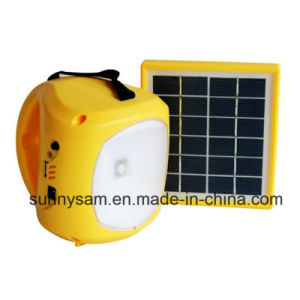 Radio Solar Emergency Flashlight for Walking Light and Camping pictures & photos