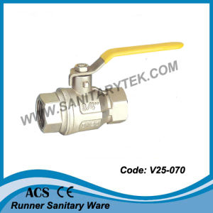 Brass Gas Ball Valve (V25-070) pictures & photos