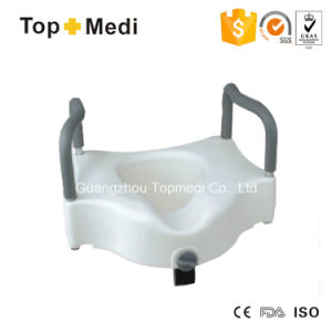 Topmedi Raised Toilet Seat with Armrest pictures & photos