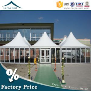 5X5m Relocatable Business Commercial Glass Wall Pagoda Tent with Clear Span Structure pictures & photos