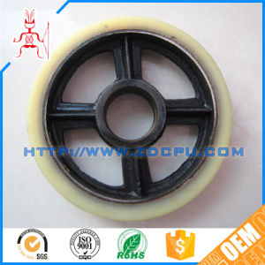 Hard Wearing NBR Rubber Caster Wheel with Hub Stud pictures & photos
