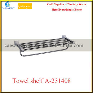 Wholesale Sanitary Ware Bathroom Accessories Chrome Towel Shelf pictures & photos